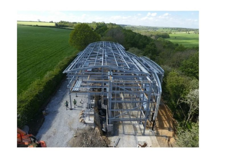 A special day in the life of Birk Crag Centre – the steel frame is almost completed